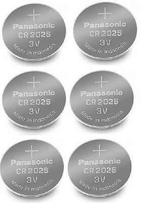 Panasonic CR2025 Lithium Coin Cell 3V Battery Car Key Fobs Toys Remote Batteries