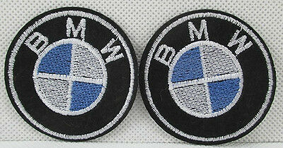 1 Embroidered Bmw Car Iron On Sew On Patch Clothes Craft 52Mm X 52Mm