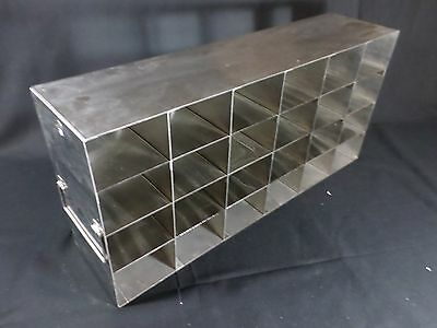 Laboratory SS 24-Section Upright Freezer Rack for 96 384-Well Microtiter Plates