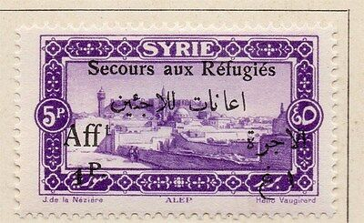 Syria 1926 Secours aux Refugies Fine Mint Hinged 1p. Optd Surcharged 047733