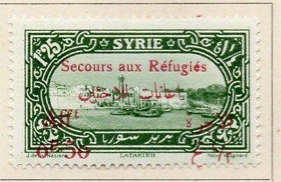 Syria 1926 Secours aux Refugies Fine Mint Hinged 50p. Optd Surcharged 047727