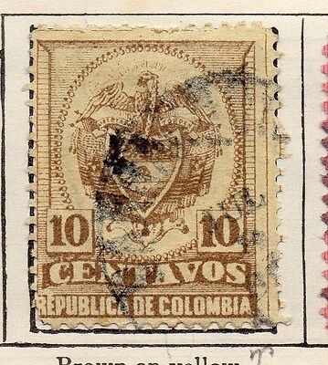 Colombia 1890-97 Early Issue Fine Used 10c. 047646