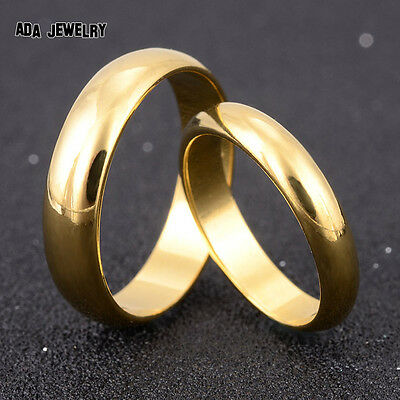His or Hers Wedding Band 18K Gold Plated