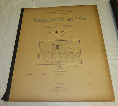 1898 USGS GEOLOGIC FOLIO No. 45/BOISE Quadrangle/4 Full-Page Maps/ID/IDAHO