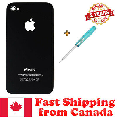 New Glass Back Battery Door Cover for iPhone 4 CDMA A1349 with Pentalobe - Black