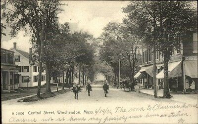 Winchendon MA Central St. c1905 Postcard