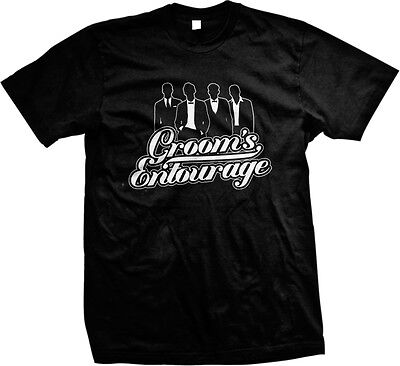 56a38102 Groom's Entourage Bachelor Bridal Party Wedding Marriage Mens T-shirt