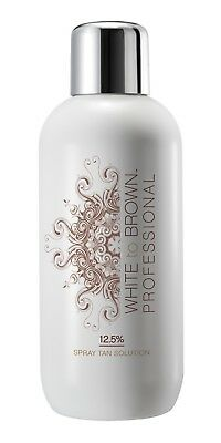 White To Brown Professional Air Brush Spray Tanning Solution 12.5% DHA 1 Ltr