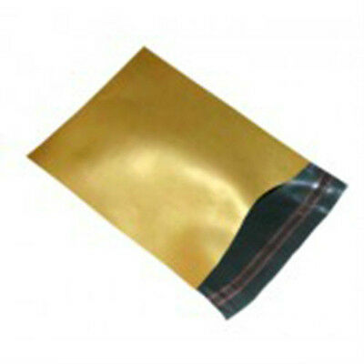 """500 Gold 10""""x14"""" Mailing Postage Postal Mail Bags"""