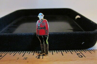 Vintage Mini Police Hat/Lapel Badge Pin-Royal Mounted Police Male Figure