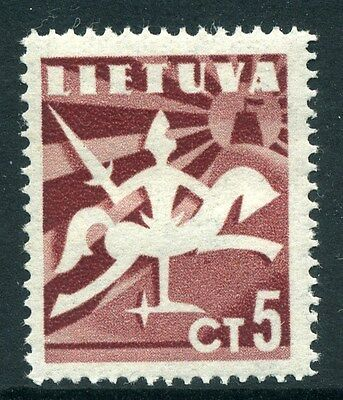 LITHUANIA;  1940 early ' Liberty ' issue Mint hinged 5c. value