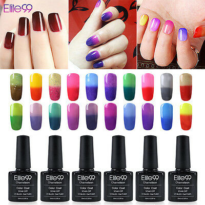 Elite99 Esmalte de Uña Camaleón Cambio de Color Gel Soak Off UV LED Arte 10ml