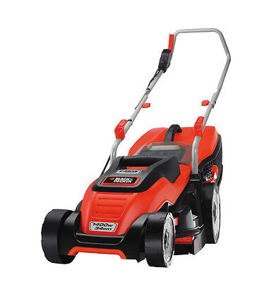 Black & Decker 1400w Rotary Mower 34cm Collects 30% More Grass