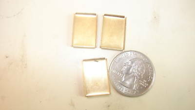 144 VINTAGE BRASS   RECTANGLE 18X13MM CUP SETTINGS WHOLESALE BLOW OUT 1950s ERA