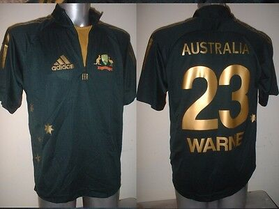 Australia SHANE WARNE Adult S M L XL Cricket Shirt ADIDAS BNWOT Jersey New Ashes