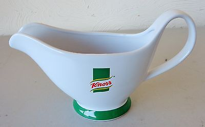 Good Condition Large Knorr White & Green Glazed Ceramic Gravy Boat