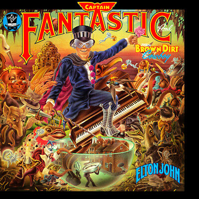 "Album Covers - Elton John - Captain Fantastic (1975) Album Poster 24""x 24"""