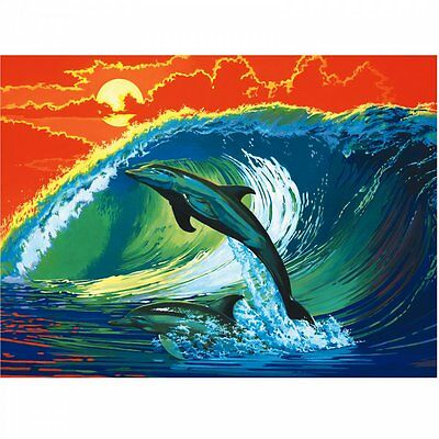 Royal & Langnickel Dolphins & Surf Painting By Number Artist Canvas Series