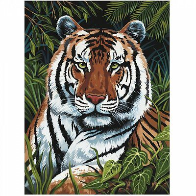 Royal & Langnickel Tiger In Hiding Paing By Number Artist Canvas Series