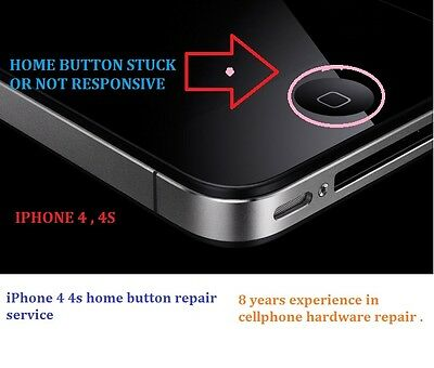 APPLE iphone 5 & 5c 5s home button service repair/ No Touch ID