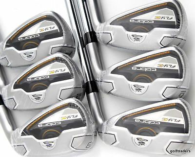 Cobra Black Fly-Z Irons 5-Pw Steel Regular Flex - New #c4414