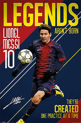 LIONEL MESSI  - NUMBER 10 LEGEND SOCCER POSTER (91x61cm)  NEW WALL ART
