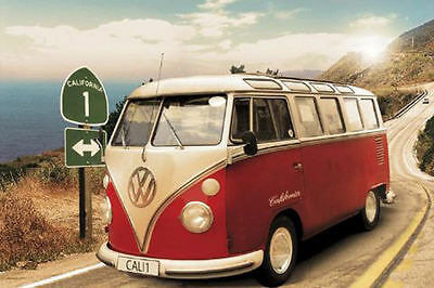 VW CAMPERVAN POSTER (61x91cm)  PICTURE PRINT NEW ART