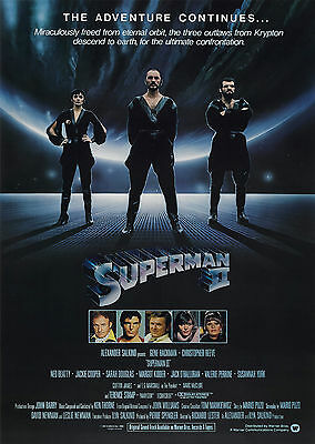 Superman 2 (1980) - A1/A2 POSTER **BUY ANY 2 AND GET 1 FREE OFFER**