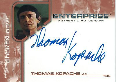 Star Trek Enterprise Season 1: BBA9 Thomas Kopache autograph