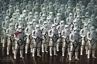 STAR WARS EPISODE 7 VII - STORMTROOPER ARMY POSTER (91x61cm)  NEW WALL ART