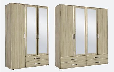 Rauch 'Rasant' Range German Made 3 & 4 Door Wardrobes. Sonoma Oak