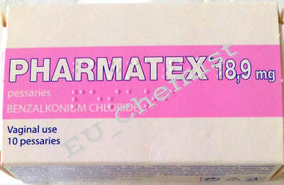 PHARMATEX 18,9 ml.-10 Vaginal Pesssaries - Local Topical Contraceptive