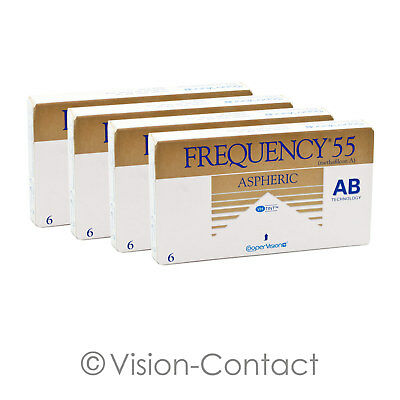 CooperVision - 4x Frequency 55 aspheric - 6er Box