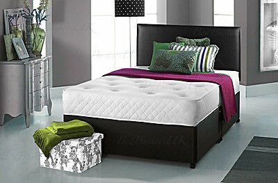 ORTHO MEMORY DIVAN BED SET + MATTRESS + HEADBOARD SIZE 3FT 4FT6 Double 5FT King