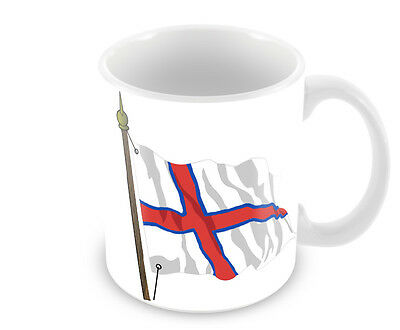 Faroe Islands Flag Mug  Faeroes Free Personalisation