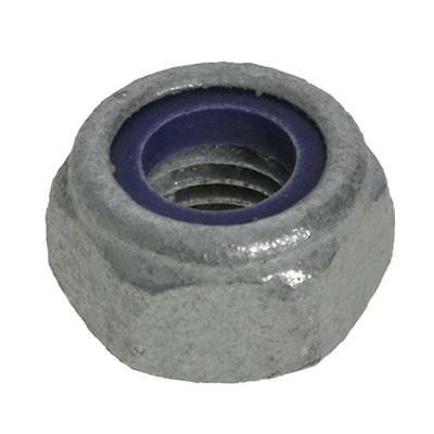 Qty 100 Hex Nyloc Nut M12 (12mm) Galvanised Class 6 Mechancial Galv Lock Insert