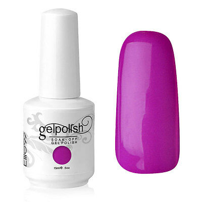 Elite99 Esmalte de Uña Gel Color Morado Rosa Soak-off UV LED Manicura Arte 15ml