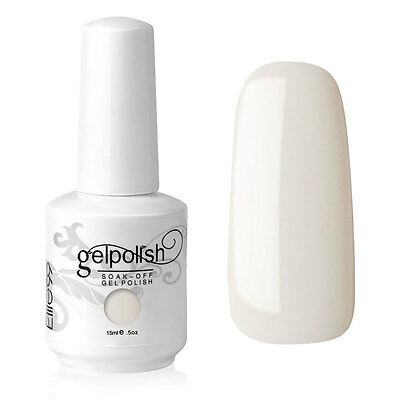 Elite99 Esmalte de Uña Gel Color Blanco Perla Soak-off UV LED Manicura Arte 15ml