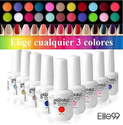 Elite99 Esmalte de Uña Gel Color Soak-off UV LED Manicura Cualquier 3pcs 15ml
