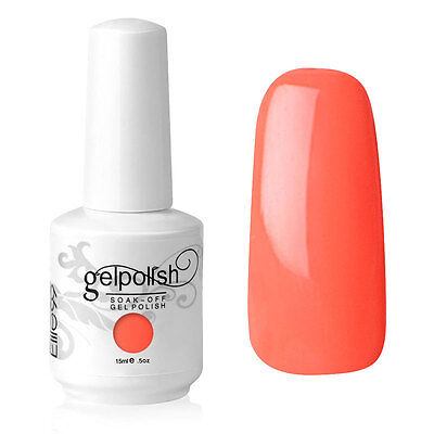 Elite99 Esmalte de Uña Gel Color Coral Soak-off UV LED Manicura Arte 15ml