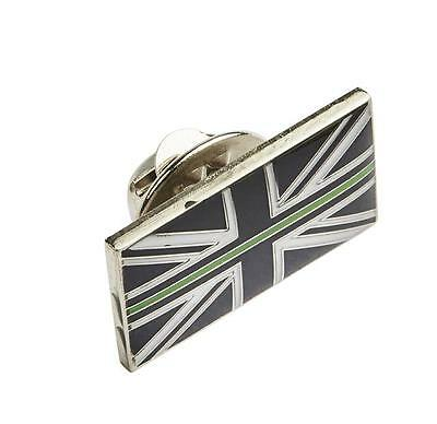 Thin Green Line Union Jack UK GB Pin Resin Badge Ambulance / Paramedic