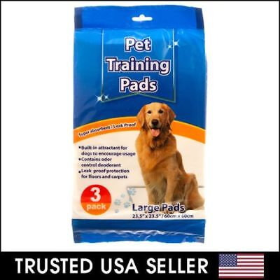 3pcs 24'' x 24'' Puppy Pet Pads Dog Cat Wee Pee Piddle Pad Training Underpads