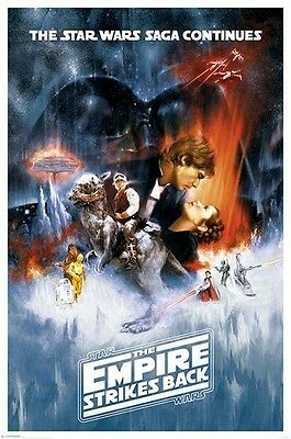 (LAMINATED) STAR WARS EPISODE V 5 POSTER (61x91cm) THE EMPIRE STRIKES BACK ART