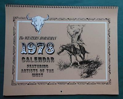 The Western Horseman 1978 12 Month Calender Artists Of The West Horses Cowboys