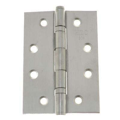 Qty 1 Pair - Fixed Pin Hinge 100mm x 70mm x 1.9mm Stainless SS Door Butt 8 Hole