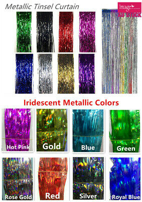 2M x 1M Metallic Tinsel Curtain Party Foil Fringe Curtain Decorations YW