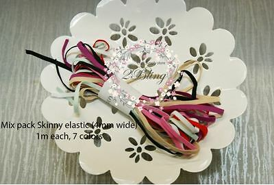 MIX PACK Knitted Skinny Elastics (3-4mm)wide *For DIY Baby Headbands/ DIY Craft