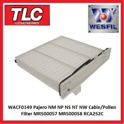 WACF0149 Pajero NM NP NS NT NW Cabin/Pollen Filter MR500057 MR500058 RCA252C