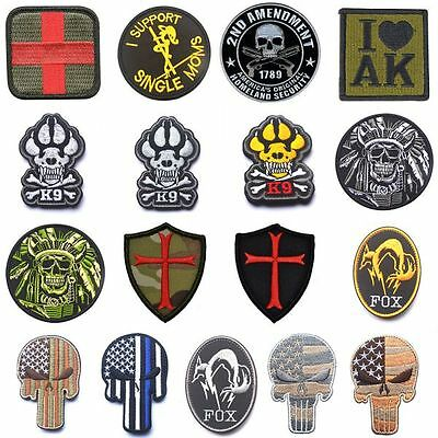 K9 & Crossbones Dog Army Badge Morale Tactical Swat Patch Armband