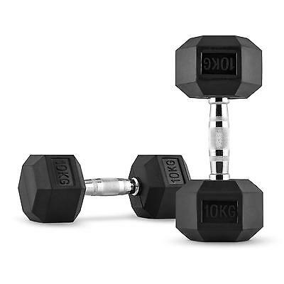 2X Petites Halteres Capital Sports Hexbell Dumbell 10Kg Total 20Kg Fitness Pro